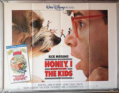 Cinema Poster Honey I Shrunk The Kids 1989 Main Quad Rick Moranis Matt Frewer Ebay