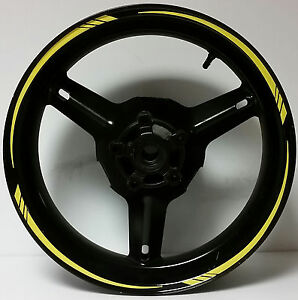 BRIGHT YELLOW REFLECTIVE MOTORCYCLE RIM STRIPES WHEEL DECALS TAPE - Vinyl stripes for motorcyclesreflective gold rim wheel tape stickers vinyl decals ebay
