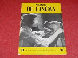 REVUE-LES-CAHIERS-DU-CINEMA-N-101-NOV-1959-G-FRANJU-Truffaut-EO-1rst-Print
