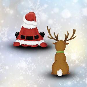 Embossing Stencil Metal Cutting Dies Scrapbooking Decor Santa Claus Reindeer