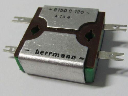 B150C120 HERRMANN SELEN Gleichrichter 2 pcs 2 Stück Rectifier VINTAGE