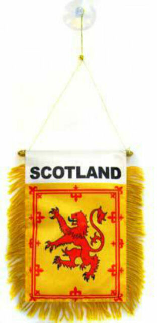 """Wholesale lot 3 Scotland Lion Mini Flag 4/""""x6/"""" Window Banner w// suction cup"""