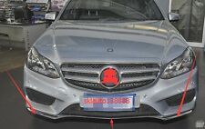 3PCS Front Bumper Chrome Trim Molding for Mercedes W212 E350 E400 E500 2014-2016