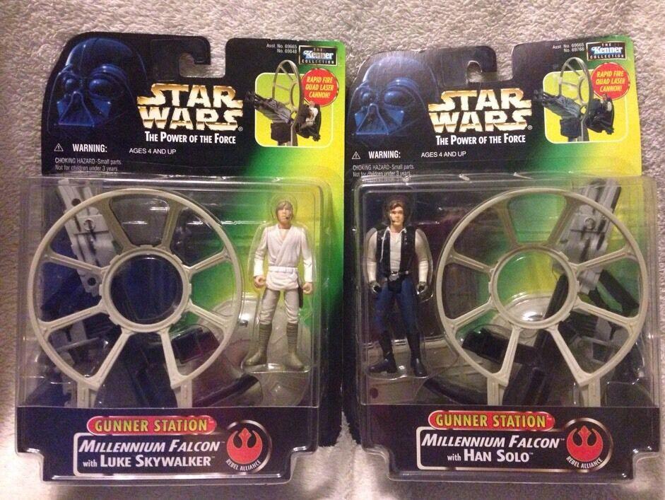 disfruta ahorrando 30-50% de descuento Estrella Wars millineum Falcon artillero estación Han Solo Solo Solo Luke Skywalker poder de la fuerza 1997  forma única