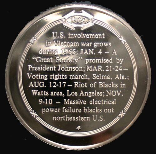 Solid Bronze Medal U.S 1965 Becomes More Involved In Vietnam War