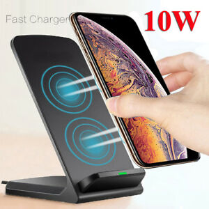 Qi-Wireless-Fast-Charger-Charging-Pad-Stand-Dock-For-Galaxy-S9-iPhone-X-XS-Max