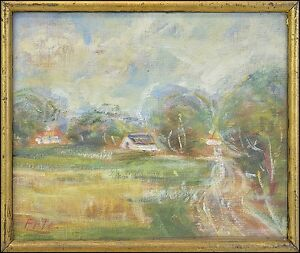 William-Georg-Alder-1878-1967-Fauvist-French-Style-Village-Landscape