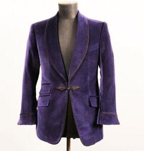 Purple-Velvet-Prom-Dinner-Tuxedos-Mens-Shawl-Lapel-Formal-Wedding-Groom-Blazer