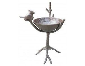 Cast-Iron-Tall-Bird-Bath-Free-Standing-Garden-Bird-Feeder-Garden-Gift-Idea