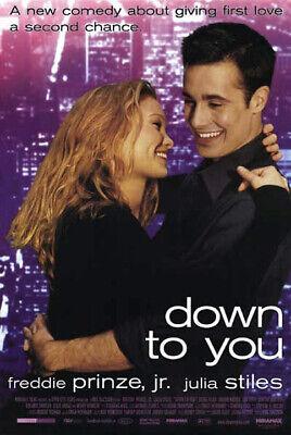 100% QualitäT Down To You (2000 Original Movie Poster Einseitig - Gerollt Klar Und GroßArtig In Der Art