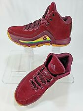 f17e15c67b67 Adidas J Wall 2 Mens Maroon Gum Soles Lightweight Basketball Shoes Size 8.5