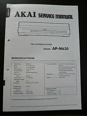 Tv, Video & Audio Sonnig Original Service Manual Akai Ap-m630 Modische Muster