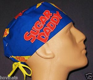 SUGAR-DADDY-CANDY-SCRUB-HAT-SURGICAL-CAP-FREE-CUSTOM-SIZING