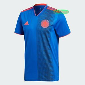 6042f502c93 adidas Colombia National Team Russia 2018 AWAY BLUE Jersey Soccer ...