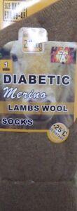 Unisex-Long-Thick-Warm-DIABETIC-Thermal-Merino-Lamb-Wool-Blend-Socks-UK-6-11