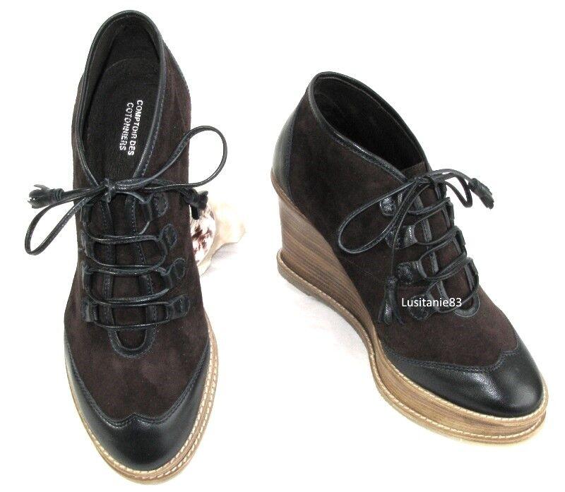 COMPTOIR DES COTONNIERS Chaussures Chaussures Chaussures compensées marine et marron 38 NEUF BOITE 53e7b3