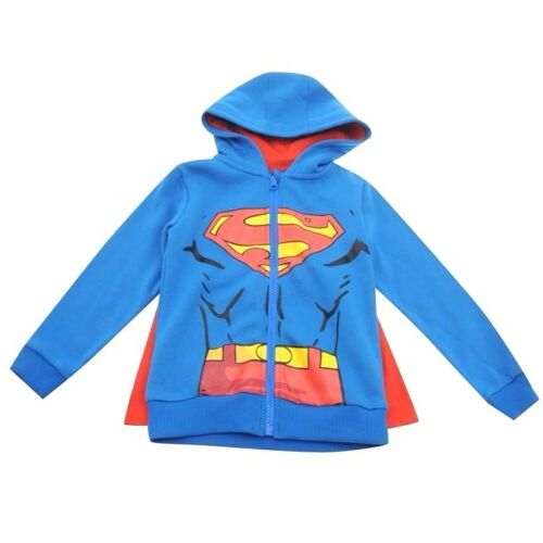 CAPE 4-10y Winter Sweater//Zip Cardigan NEW Kids Official SUPERMAN Hoody//Jacket