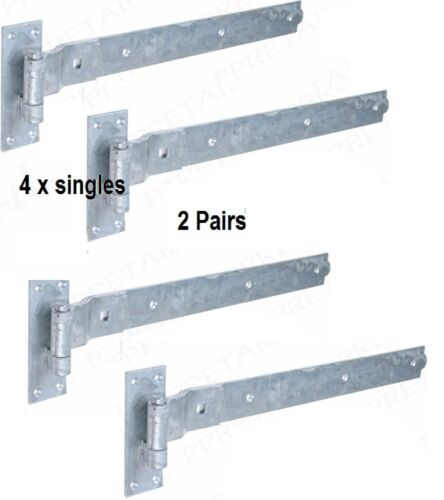 """16/"""" GATE HOOK AND /& BAND HINGES HEAVY DUTY STABLE GARAGE SHED BARN DOOR"""