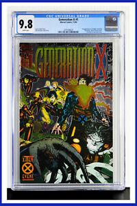 Generation-X-1-CGC-Graded-9-8-Marvel-1994-Chromium-Wraparound-Cover-Comic-Book