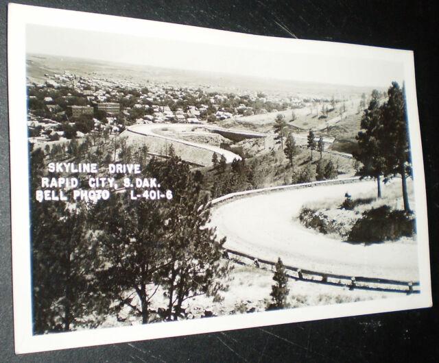 Postcard View Of Skyline Drive Rapid City S D Circa 1950 Ebay