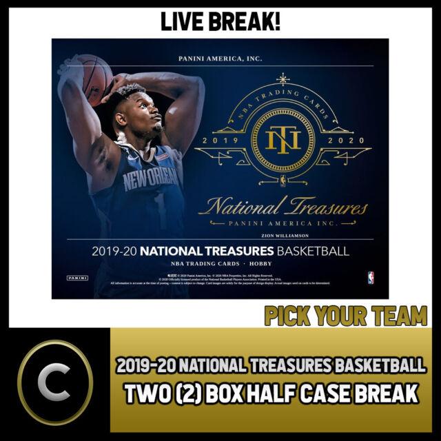 2019-20 NATIONAL TREASURES BASKETBALL 2 BOX BREAK #B420 - PICK YOUR TEAM