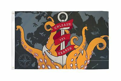 Release The Kraken Pirate Flag 3x5 Pirate Boating Sailing Release the Cracken