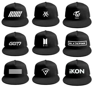 1f86c7f3066 Kpop BTS WANNA ONE TWICE BLACKPINK IKON GOT7 Summer Baseball Hat Cap ...