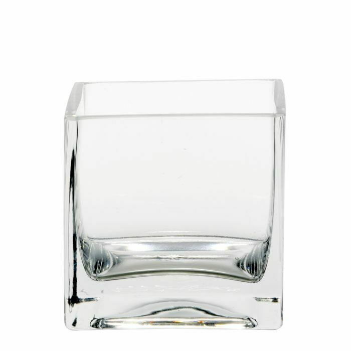 8cm GLASS CUBE VASE CLEAR 3  Square Clear Flower Florist Table Wedding Event