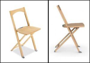 CALLIGARIS OLIVIA Sedia Pieghevole Salvaspazio Legno Folding Chair ...