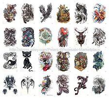 "US SELLER, 20 sheets eagle dragon Halloween 8.25"" large arm temporary tattoo art"