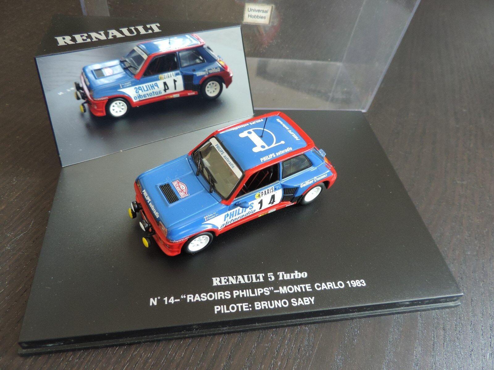 Renault 5 R5 turbo n°14 philips monte carlo 1983 Saby Universal hobbies 1 43