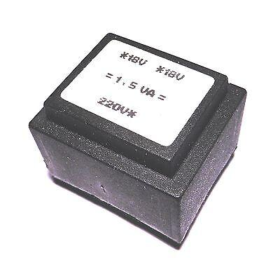 Transformateur moule 1,5VA 2x18V                                       TFM1VA18D