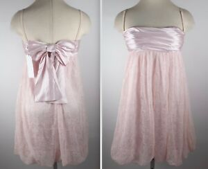 BNWT-D-amp-G-Dolce-amp-Gabbana-US-6-corset-baby-doll-dress-pink-lace-silk-NEW
