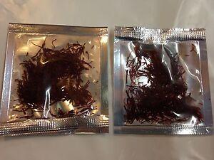 Feinschmecker 2st X 0,5gr Safran Fäden In Tütchen Höchste Qualitätsstufe Neu & Ovp 1gr Kunden Zuerst