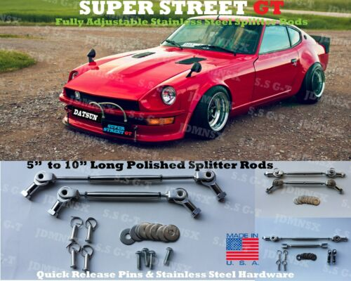 Universal Adjustable Front Rear Bumper Splitter Deffuser Chin Support Rods