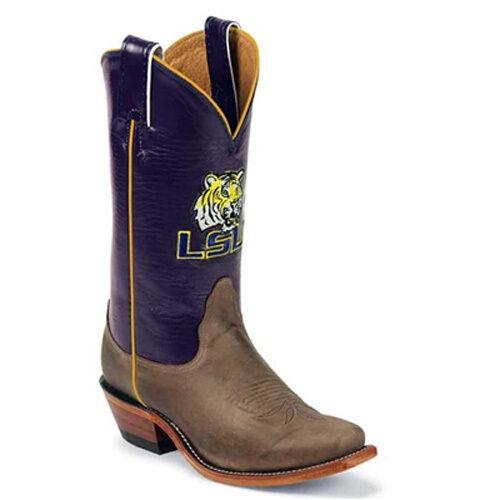 LSU WOMEN'S COWBOY BOOT WITH PURPLE SHAFT BY NOCONA LDLSU22