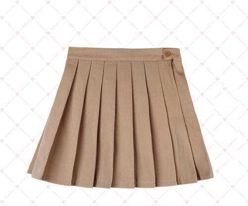 Japanese Sweet Lolita Skirt Mori Cute Girl Preppy Style Short Pleated Skirt