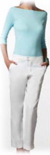 NWT LILLY PULITZER ELAINE CROP PANT CLASSIC WHITE BEACH TWILL SZ 2