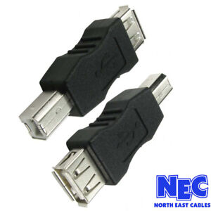 USB-2-0-Type-A-Female-to-Type-B-Male-Adaptor-Converter-Black-Adapter-CabledUp