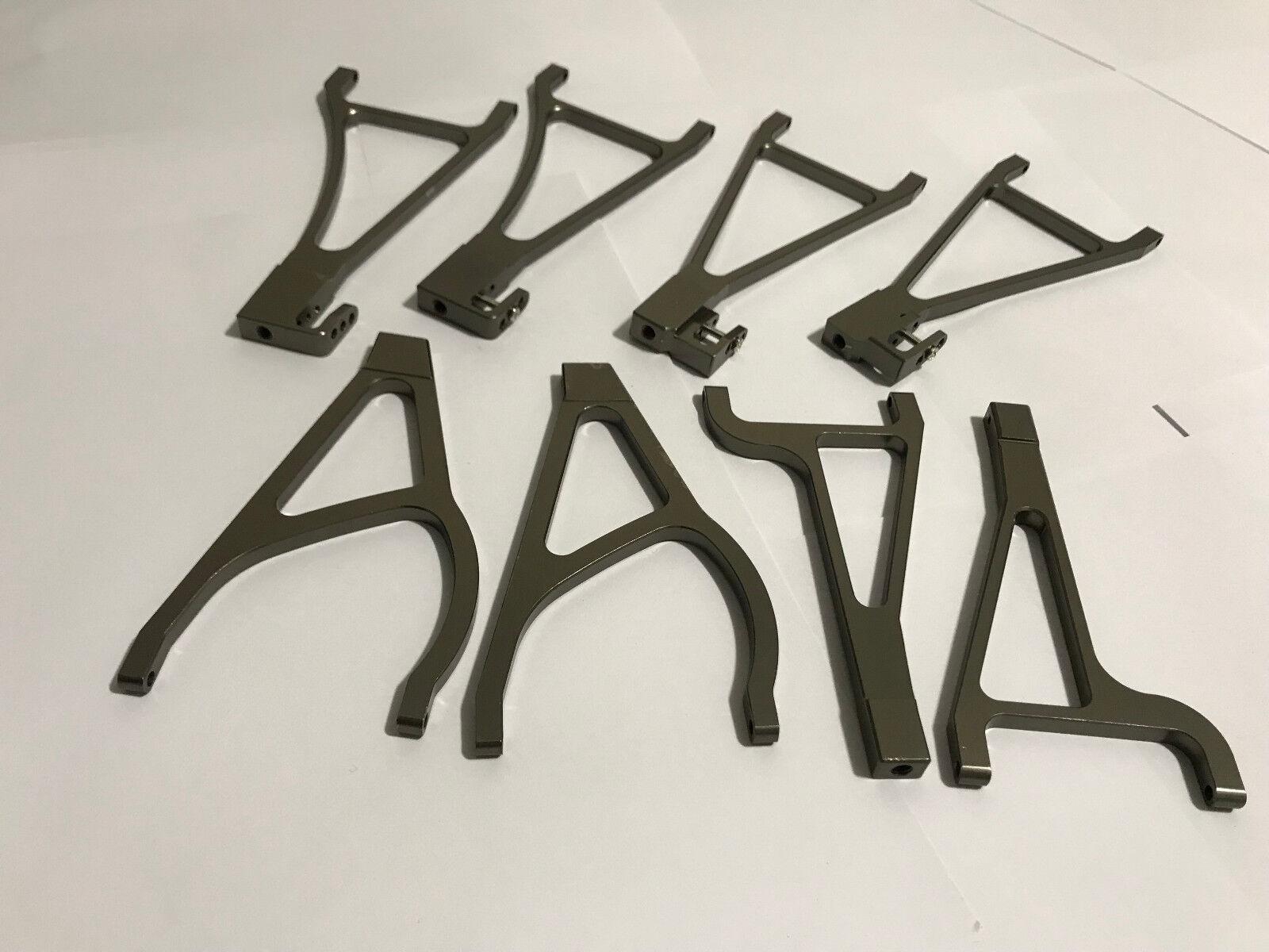 8 un. Conjunto de brazo completo de aluminio para Traxxas Revo e-Revo BW