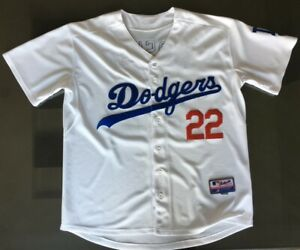 the best attitude 784b1 977fd Details about Los Angeles Dodgers Jersey Clayton Kershaw #22 White Size 48  (XL)