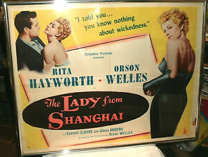 RITA-HAYWORTH-The-Lady-from-Shanghai-Half-Sheet-Style-B-1947-FINE-Folds
