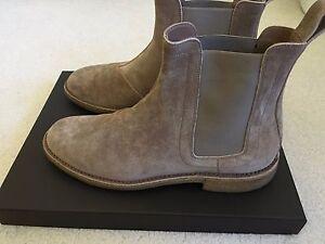 0a3649c3e00 Details about Bottega Veneta Toffee Suede Chelsea Boots size 41 1/2 Kanye  West 100% Authentic