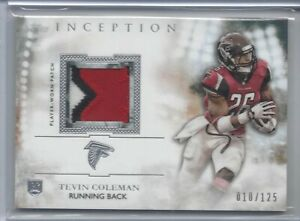 2015-Topps-Inception-FB-TEVIN-COLEMAN-RC-Rookie-Relics-Patch-SP-125