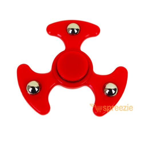 Red Hand Spinner Fidget Toy Anxiety Stress Relief Focus EDC UFO Spinner ADHD New