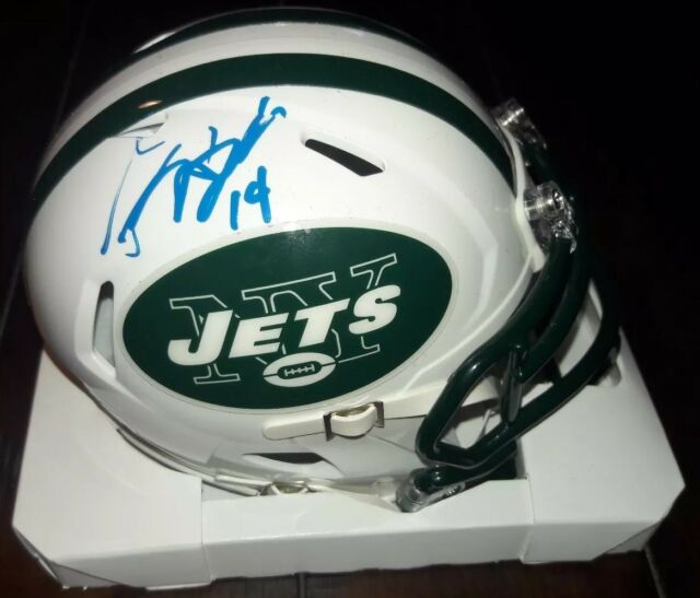 7f40f913 Sam Darnold New York Jets Autographed Riddell Mini Speed Helmet Beckett  Certed
