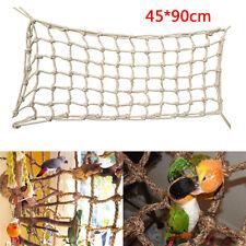 Neu 90*45cm Papagei Spielzeug Vogel Papageienspielzeug Hanfseil Netz Kletternetz