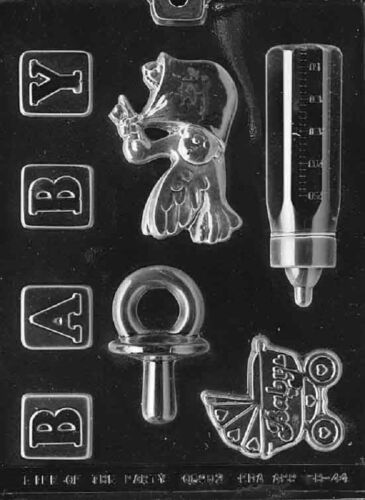 B044 Baby Kit Chocolate Candy Soap Mold with Instructions
