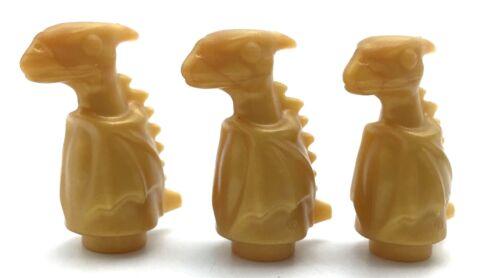 LEGO LOT OF 3 PEARL GOLD DINOSAUR BABIES DRAGON FIGURES