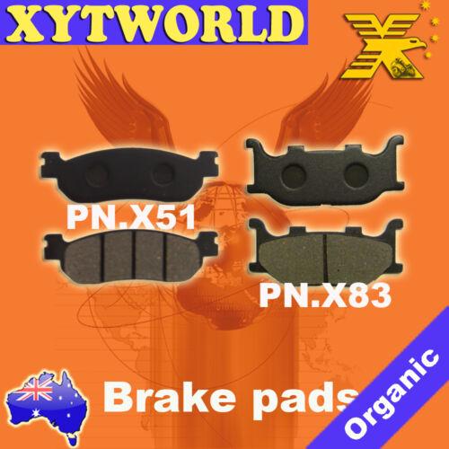 Front Rear Brake Pads Yamaha YP250 2000-2007 YP 250 DX//A Majesty 1998-1999